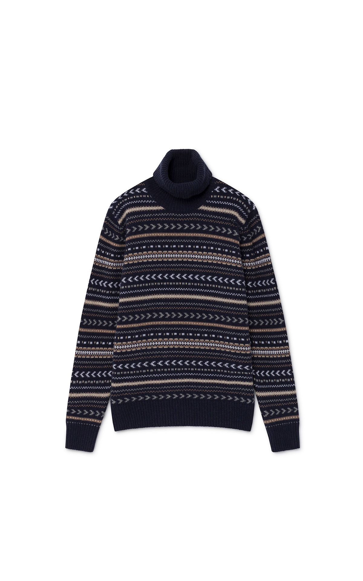 Hackett fairisle roll neck at The Bicester Village Shopping Collection