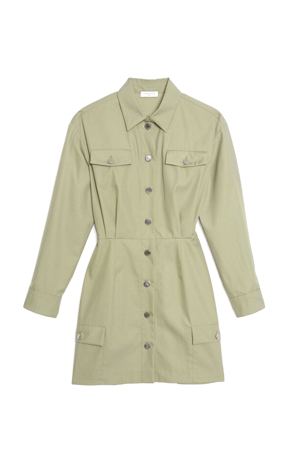 Short khaki dress with buttons Sandro