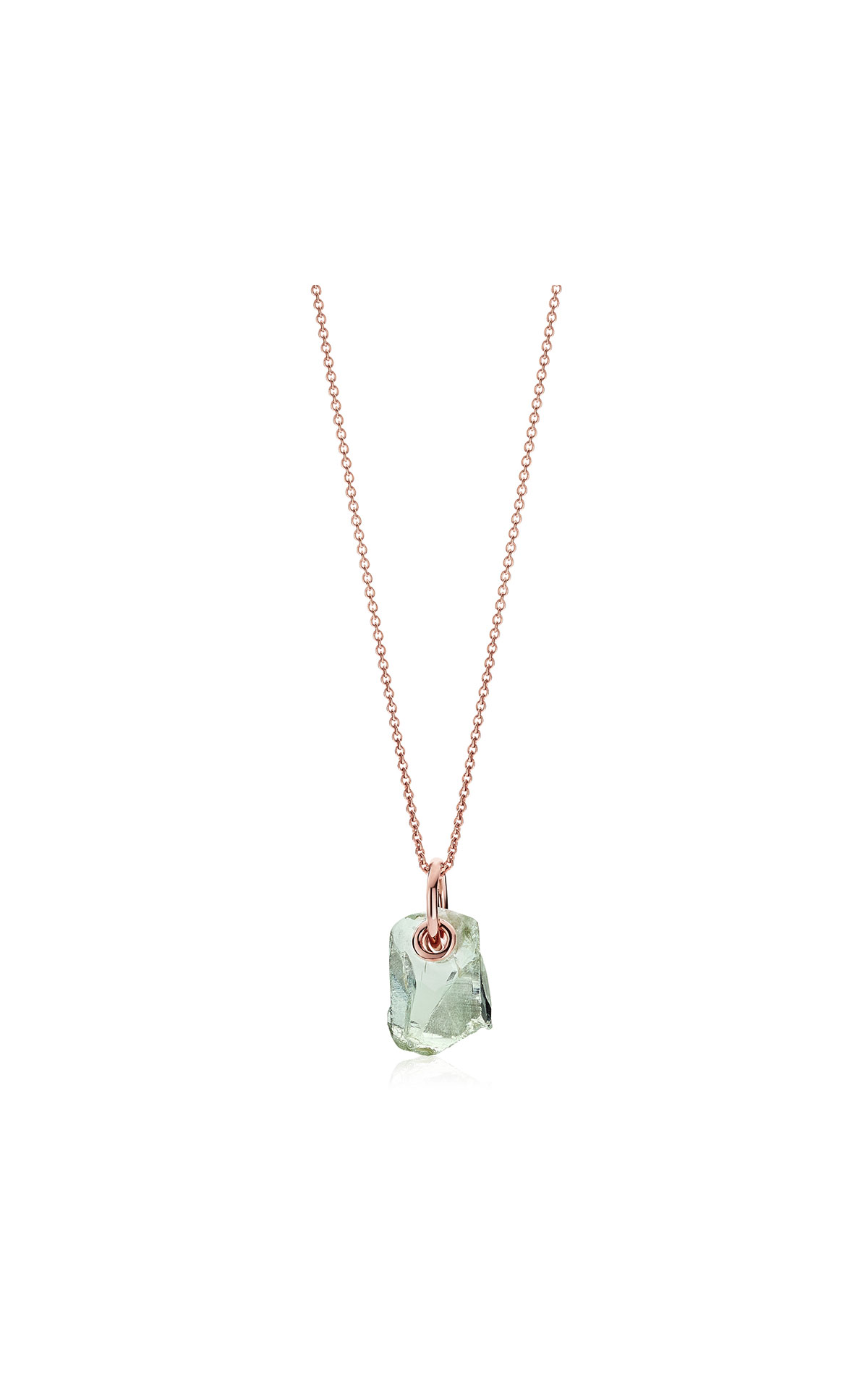 Monica Vinader Rose gold vermeil gemstone pendant adjustable necklace - green amethyst from Bicester Village
