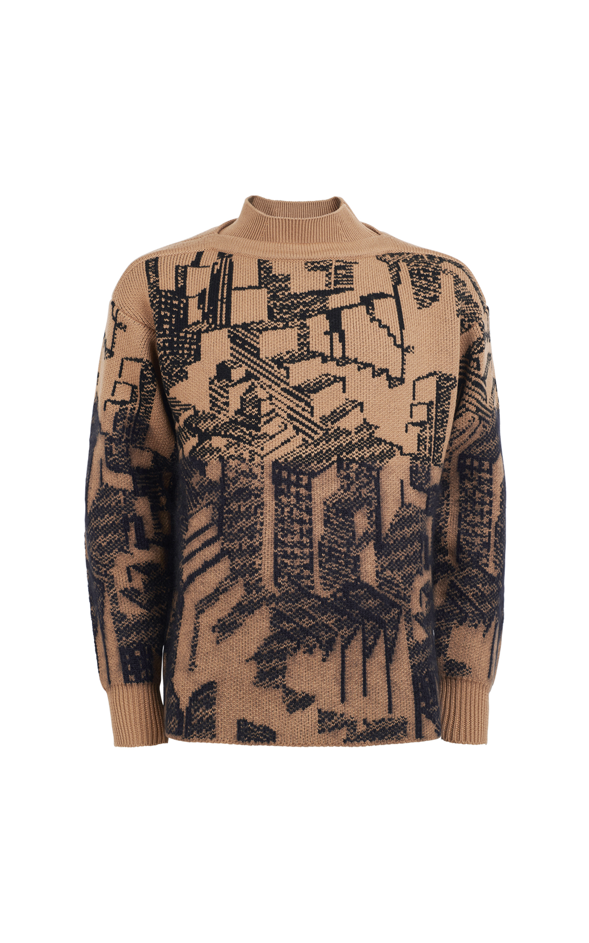 Ermenegildo Zegna Brown printed sweater