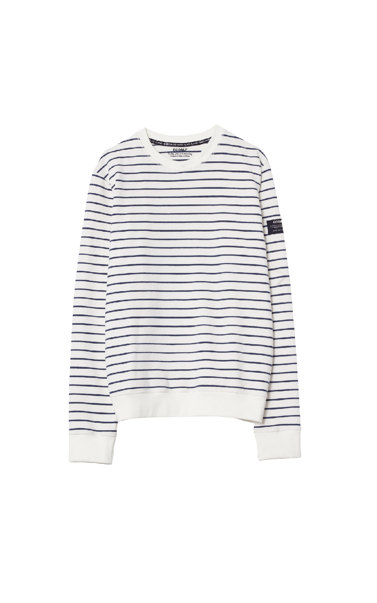 White and blue striped sweater Ecoalf