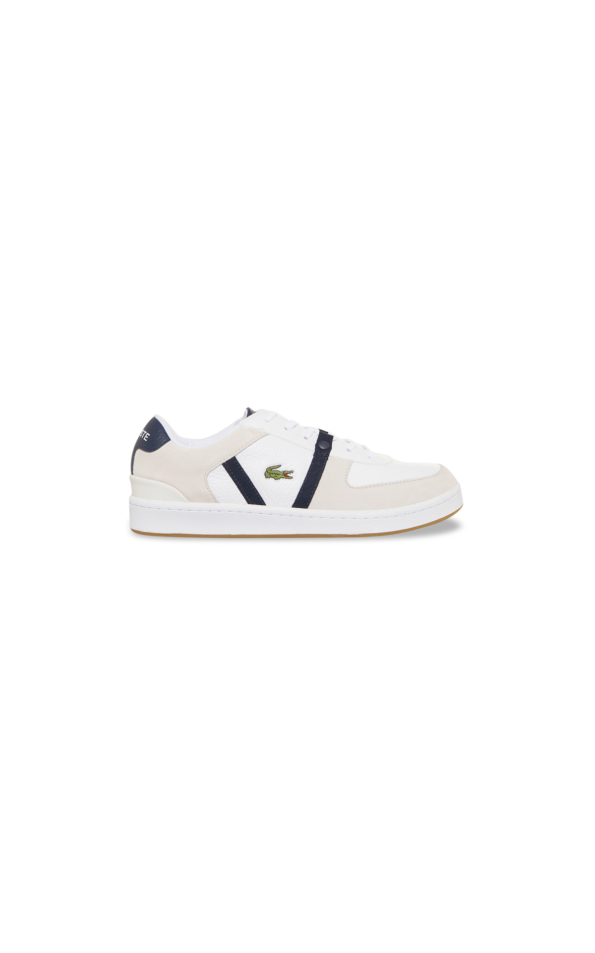 La Vallée Village Lacoste Beige and white logo sneakers