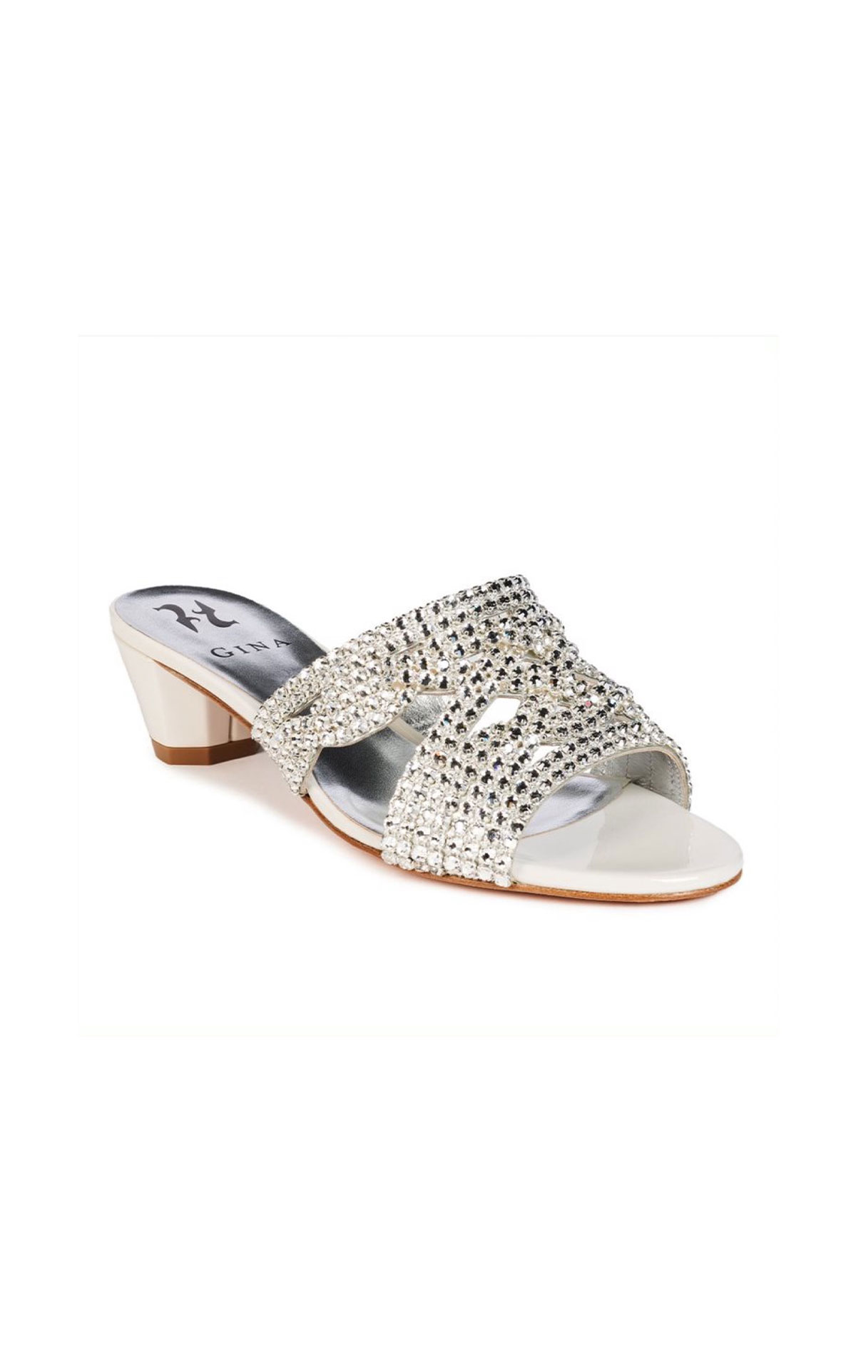 Gina White and silver slipper from Bicester Village