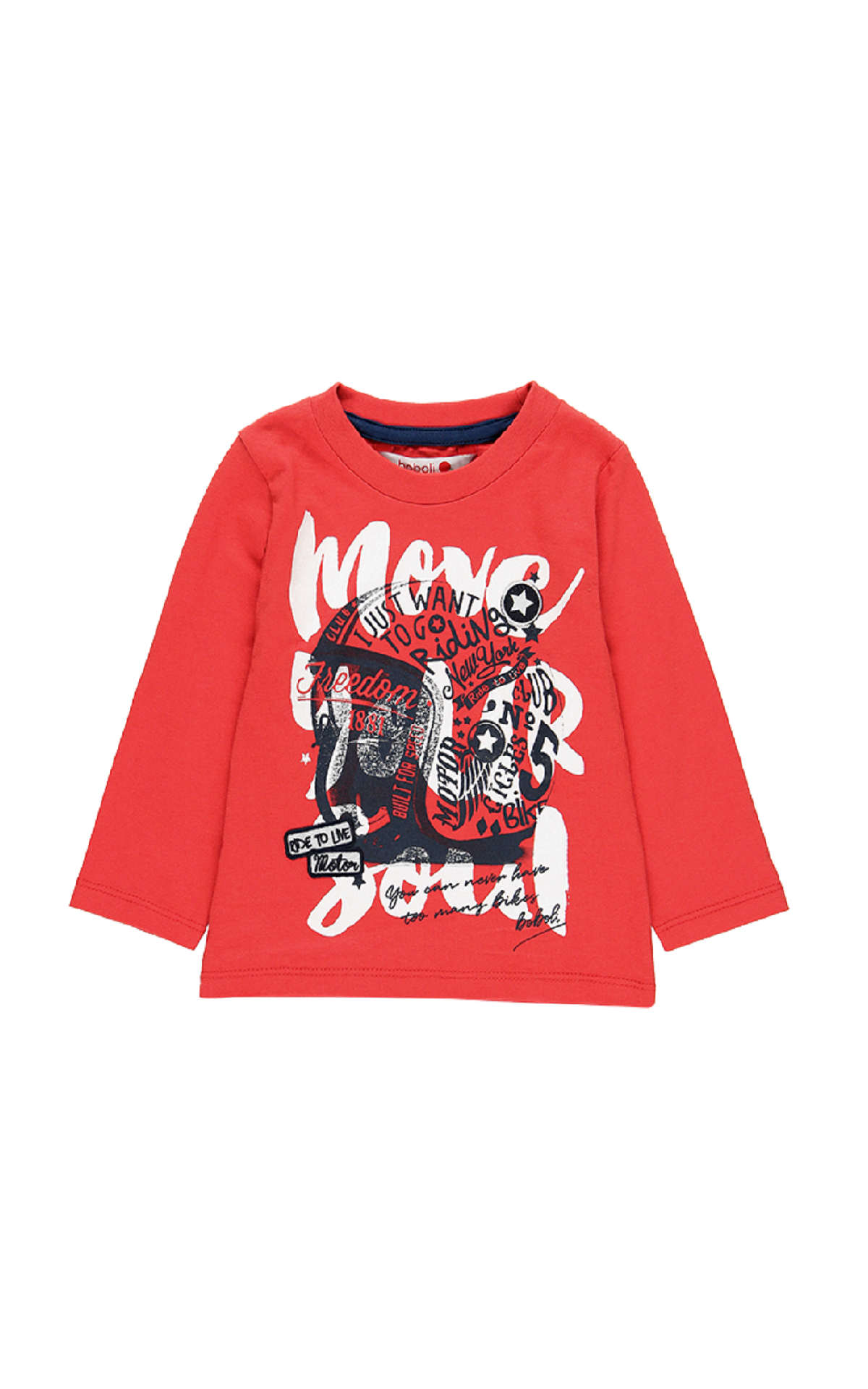 Red printed t-shirt boboli