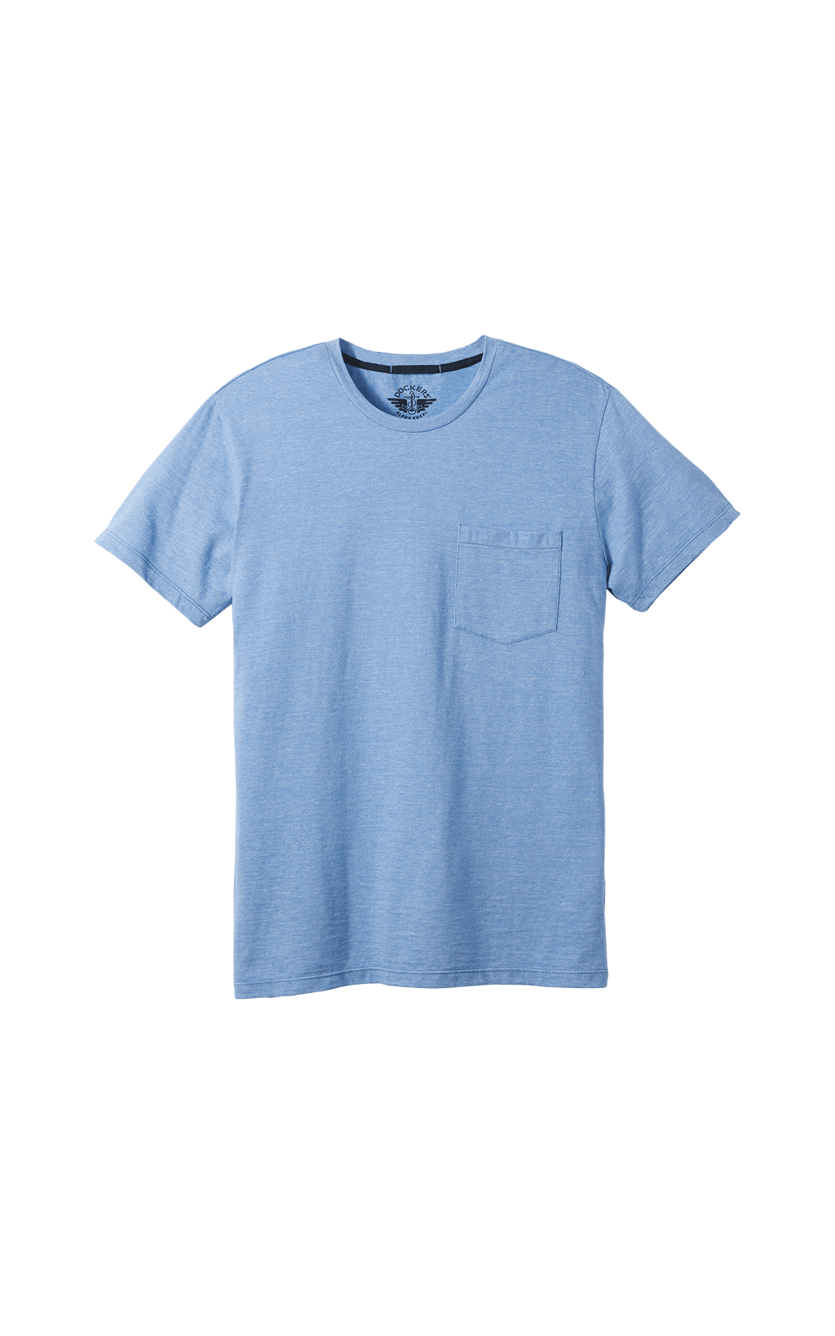 Light blue short sleeves T-shirt with a pocket for man Dockers