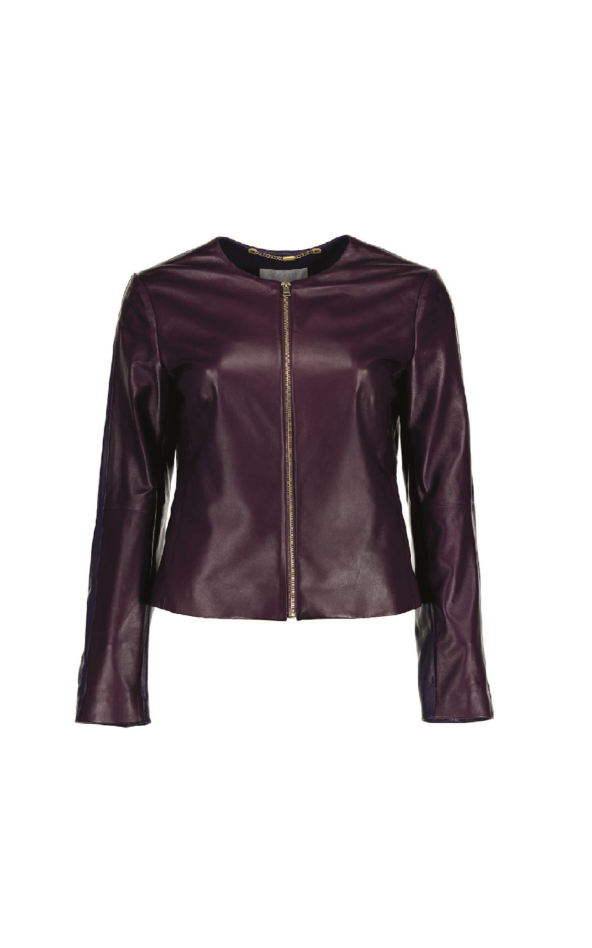 Leather purple jacket Escada