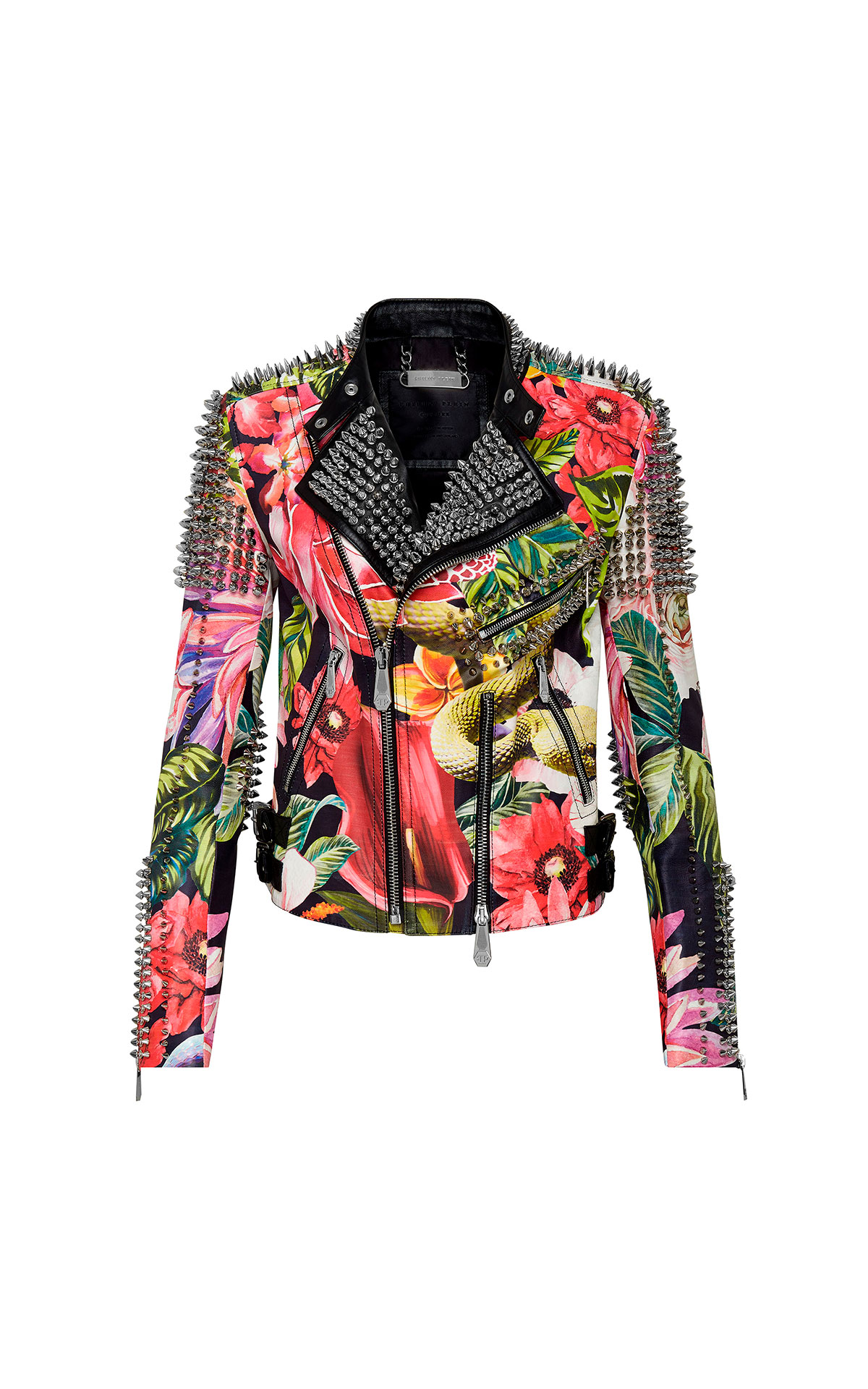Leather woman jacket Philipp Plein