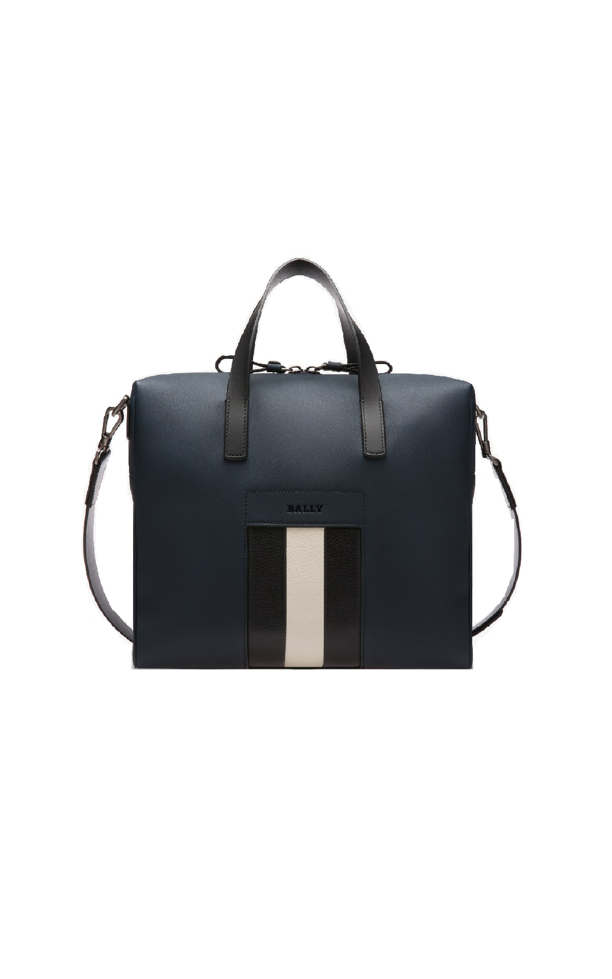 Navy blue leather bag Bally