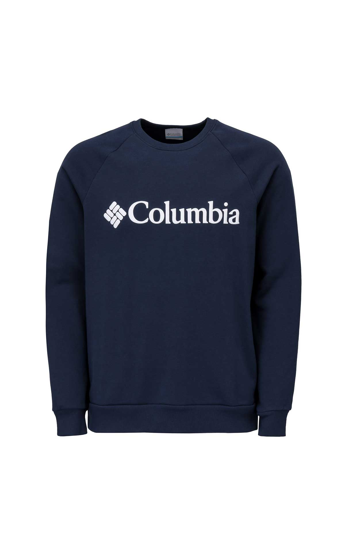 Navy blue sweatshirt with columbia logo for man
