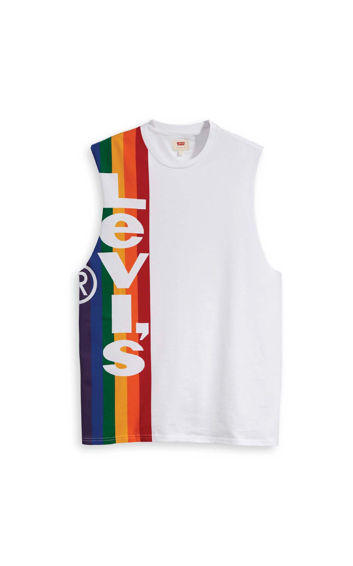 Levi's PRIDE L-TAB CUTOFF TEE at The Bicester Village Shopping Collection