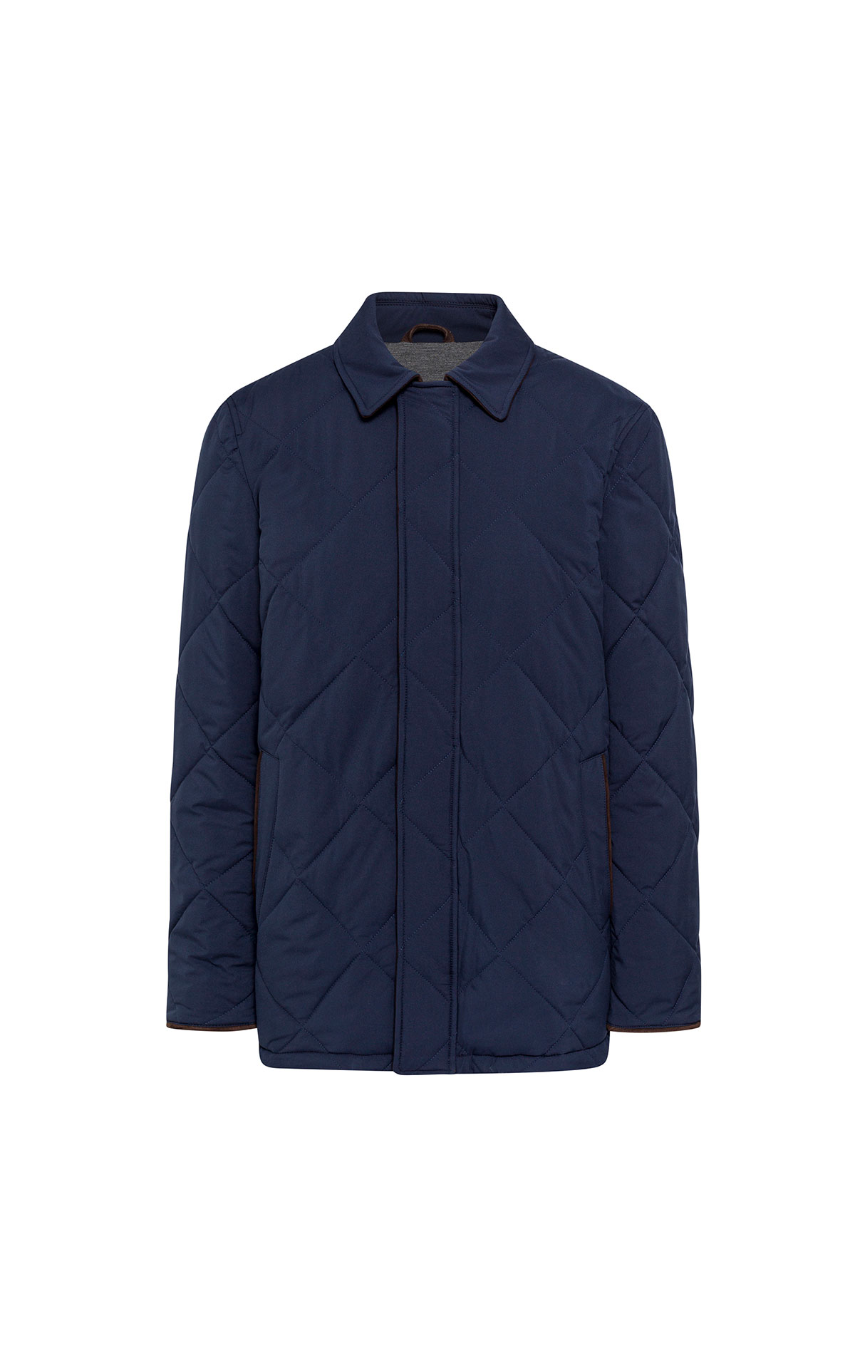 Hackett Myf horsey quilted jacket navy from Bicester Village