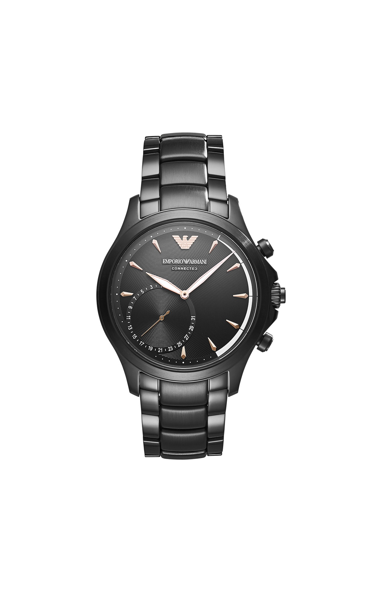 Black smartwatch for man Armani