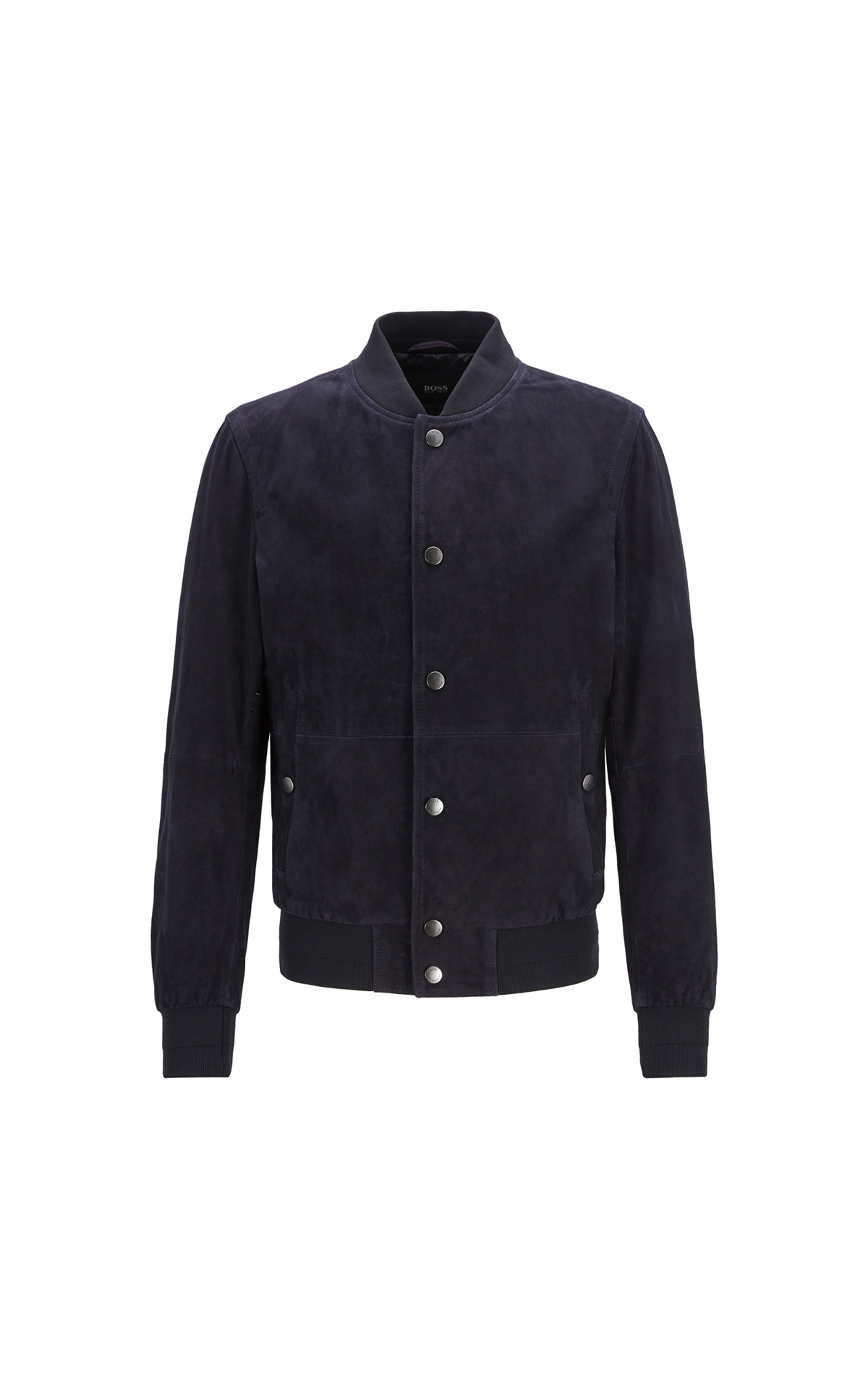 Boss Aminor Regular-fit Bomber-style jacket in lightweight suede at The Bicester Village Shopping Collection