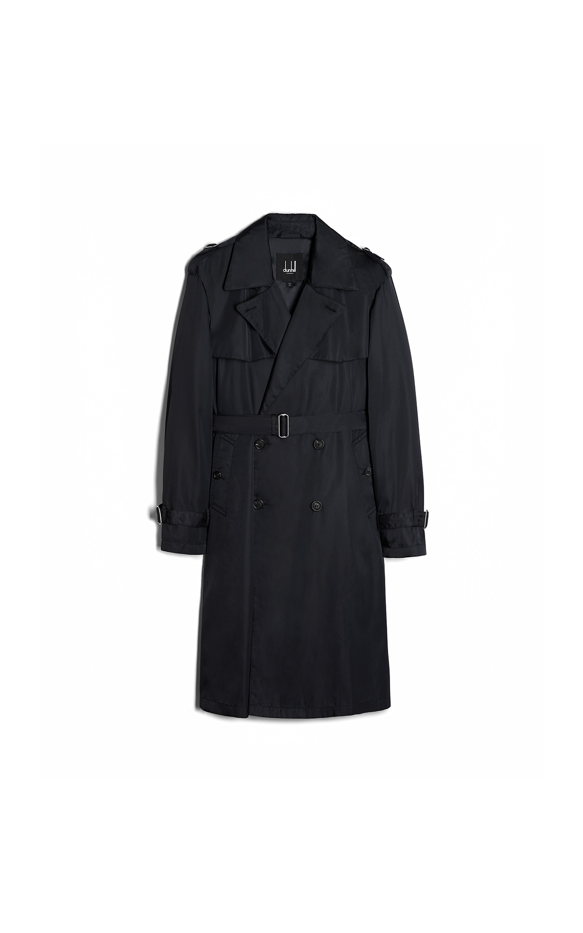 dunhill Black trench coat | La Vallée Village