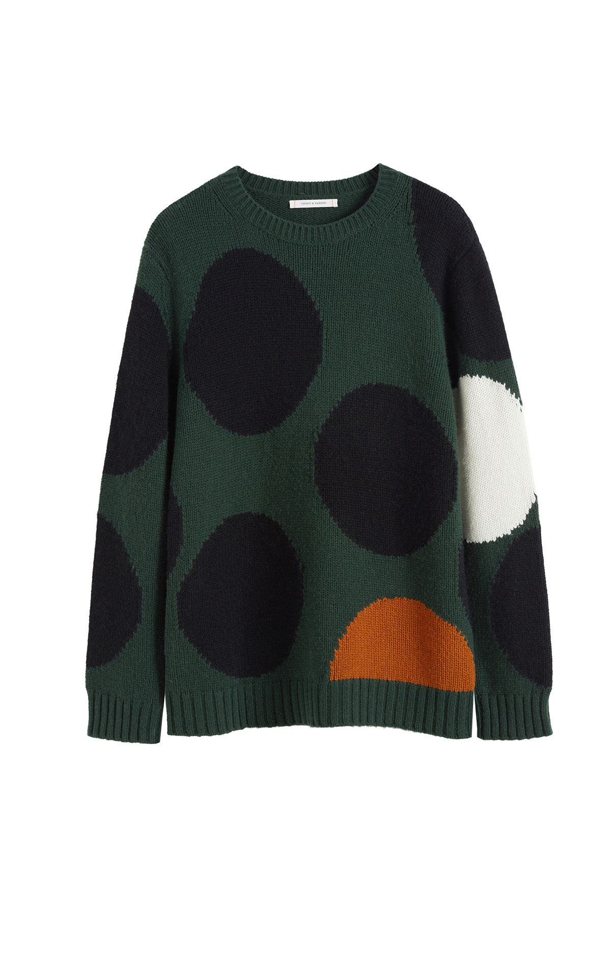 Chinti & Parker Green dot sweater from Bicester Village