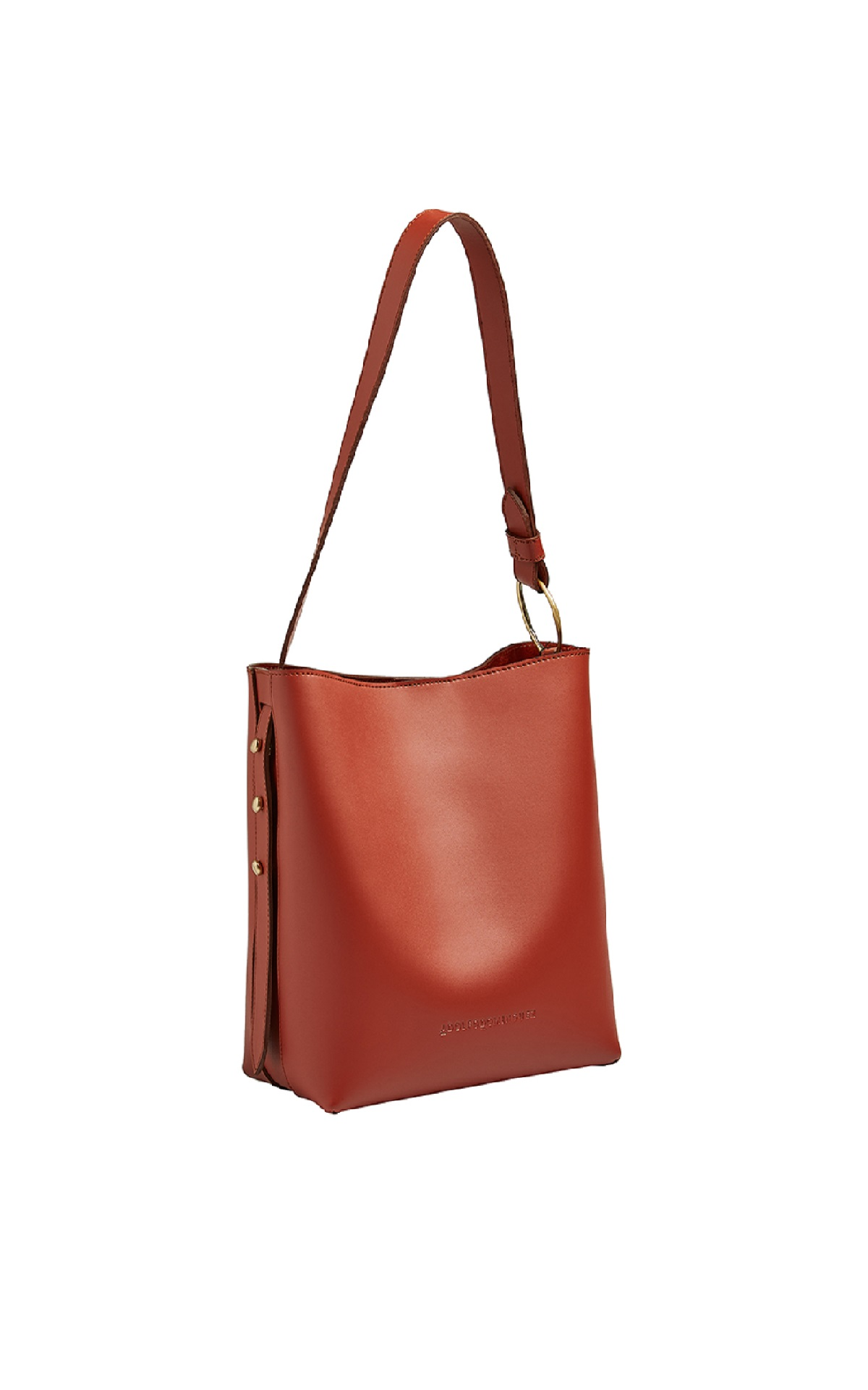 Brown leather bucket bag Adolfo Dominguez