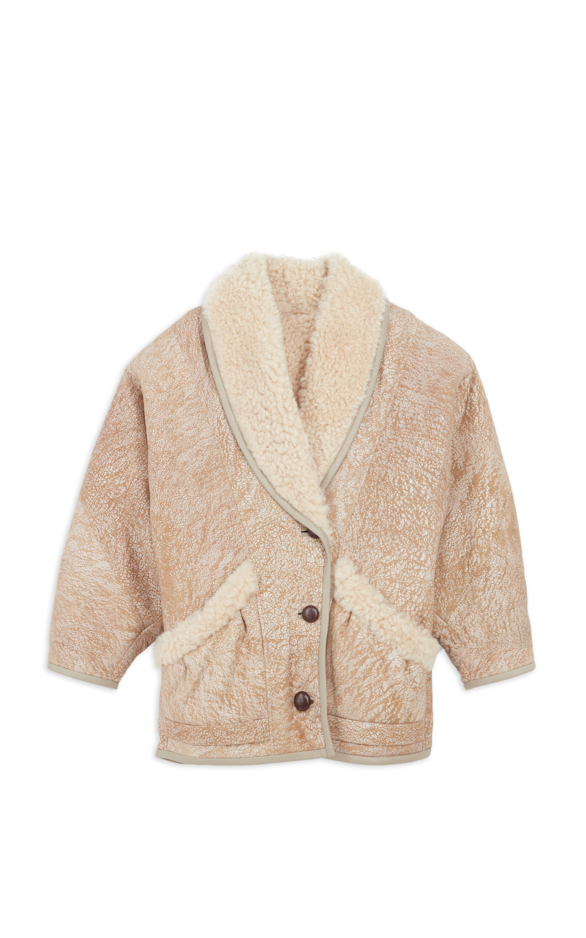Isabel Marant cream Audrina coat la vallée village