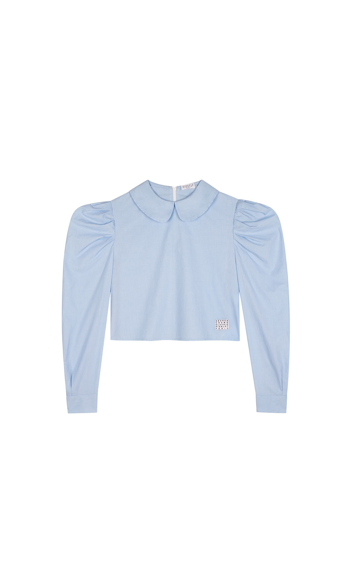Claudie Pierlot cropped cotton blouse at the bicester village shopping collection