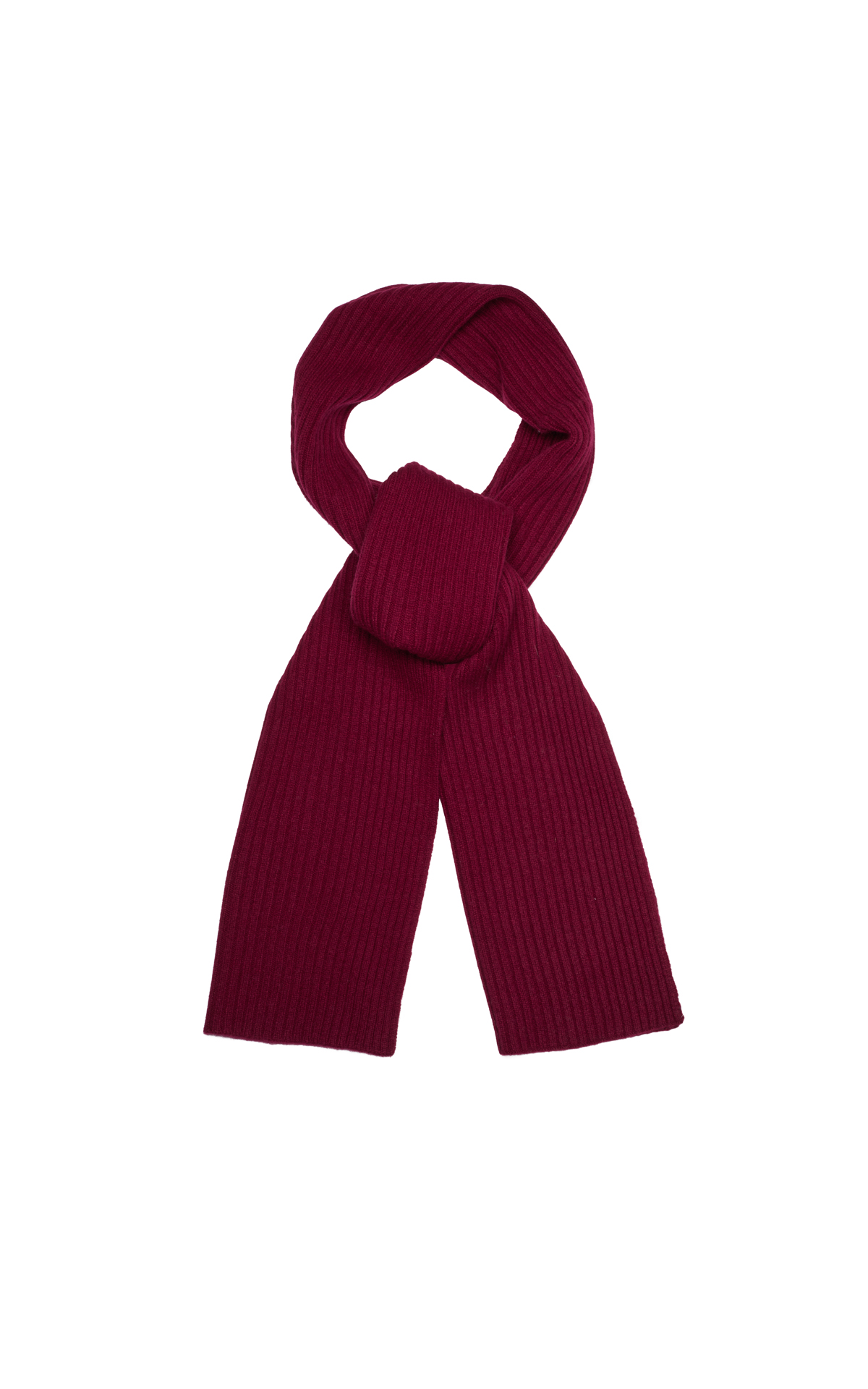 N.Peal Short ribbed scarf malbec from Bicester Village