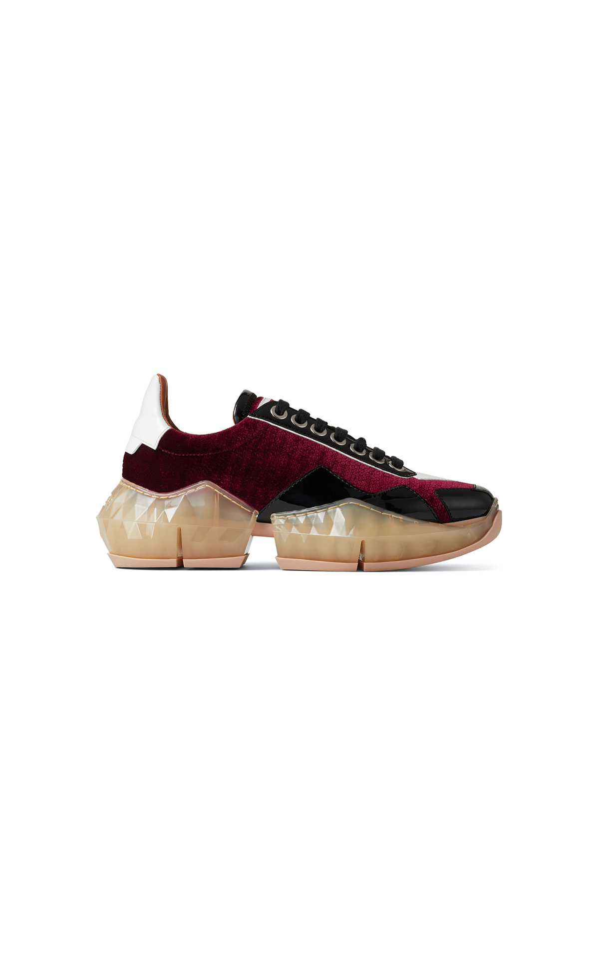 La Vallée Village Jimmy Choo Bordeaux sneakers
