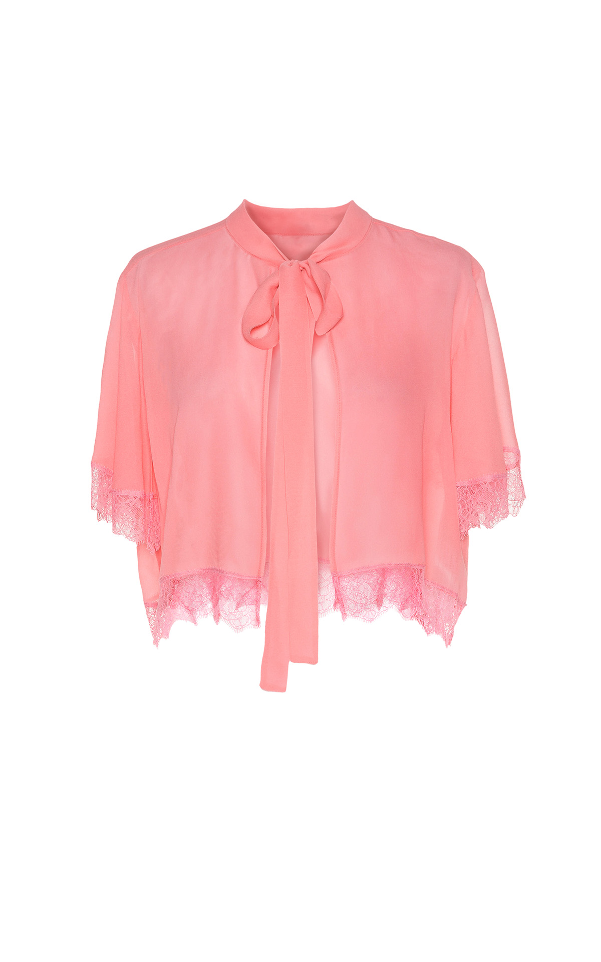Pink lace blouse TwinSet