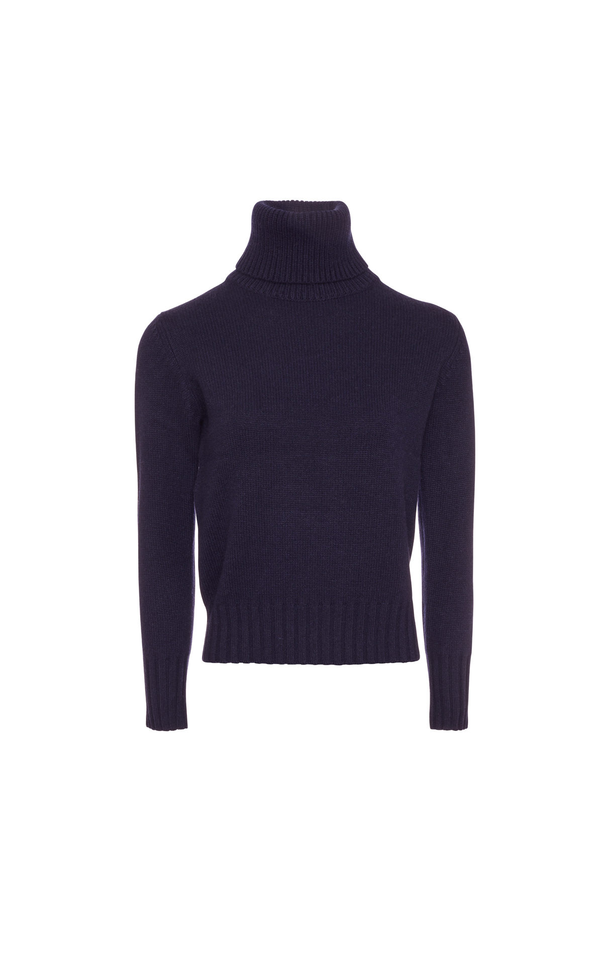 N.Peal  Chunky roll neck navy from Bicester Village