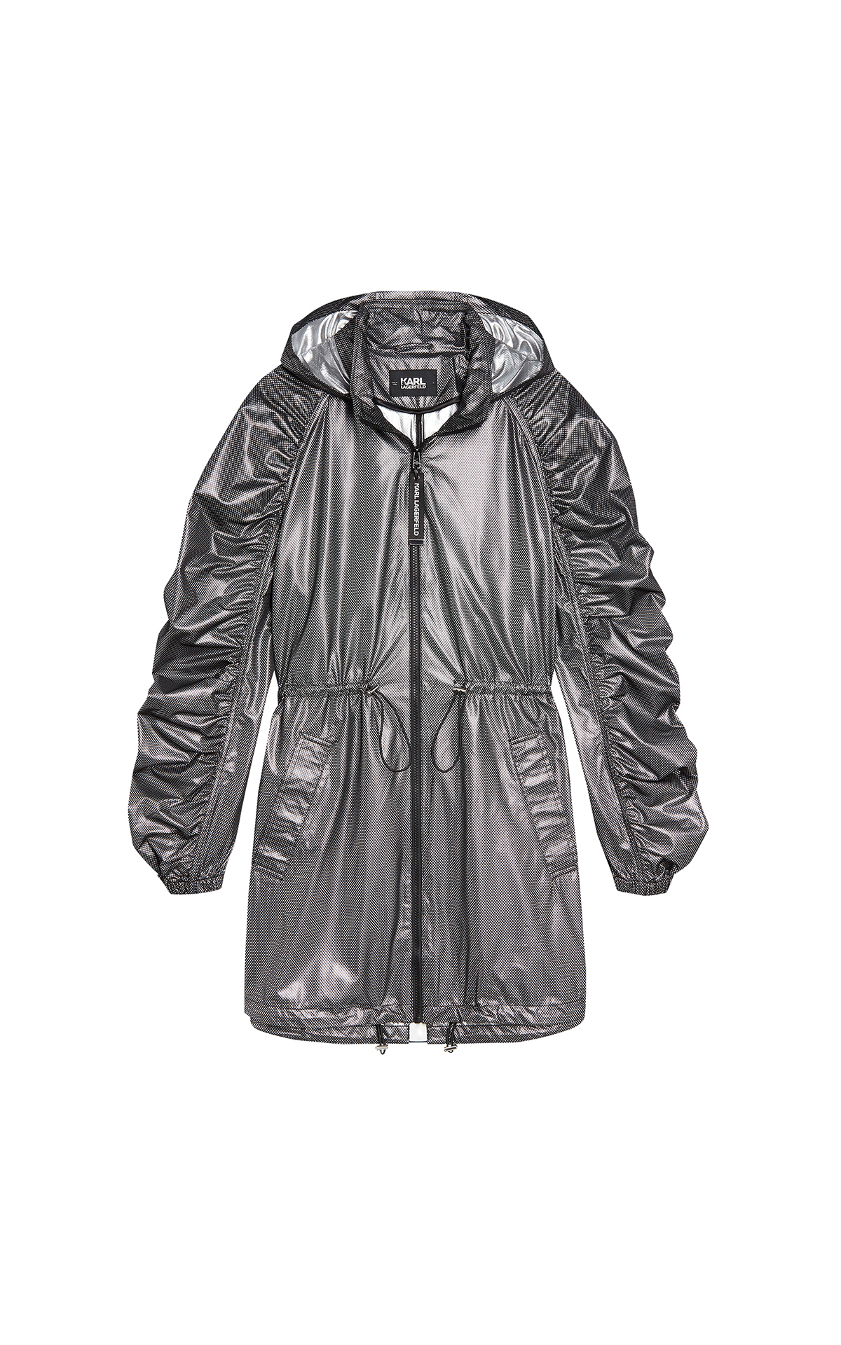 Silver long parka for woman Karl Lagerfeld