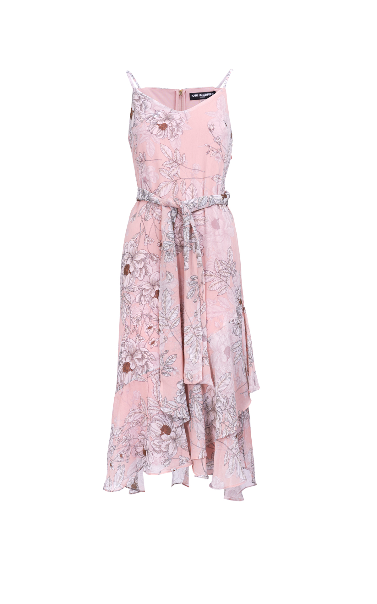 Pink flowered dress Karl lagerfeld