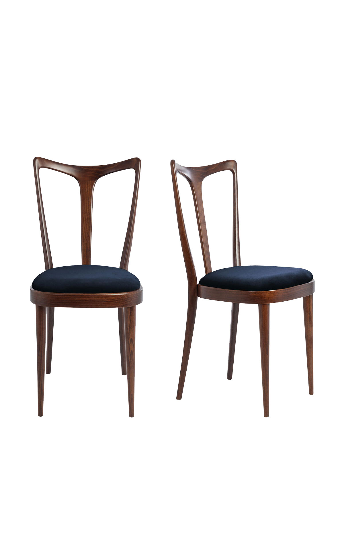 Soho Home Pair of Floyd dining chairs in ink wool from Bicester Village