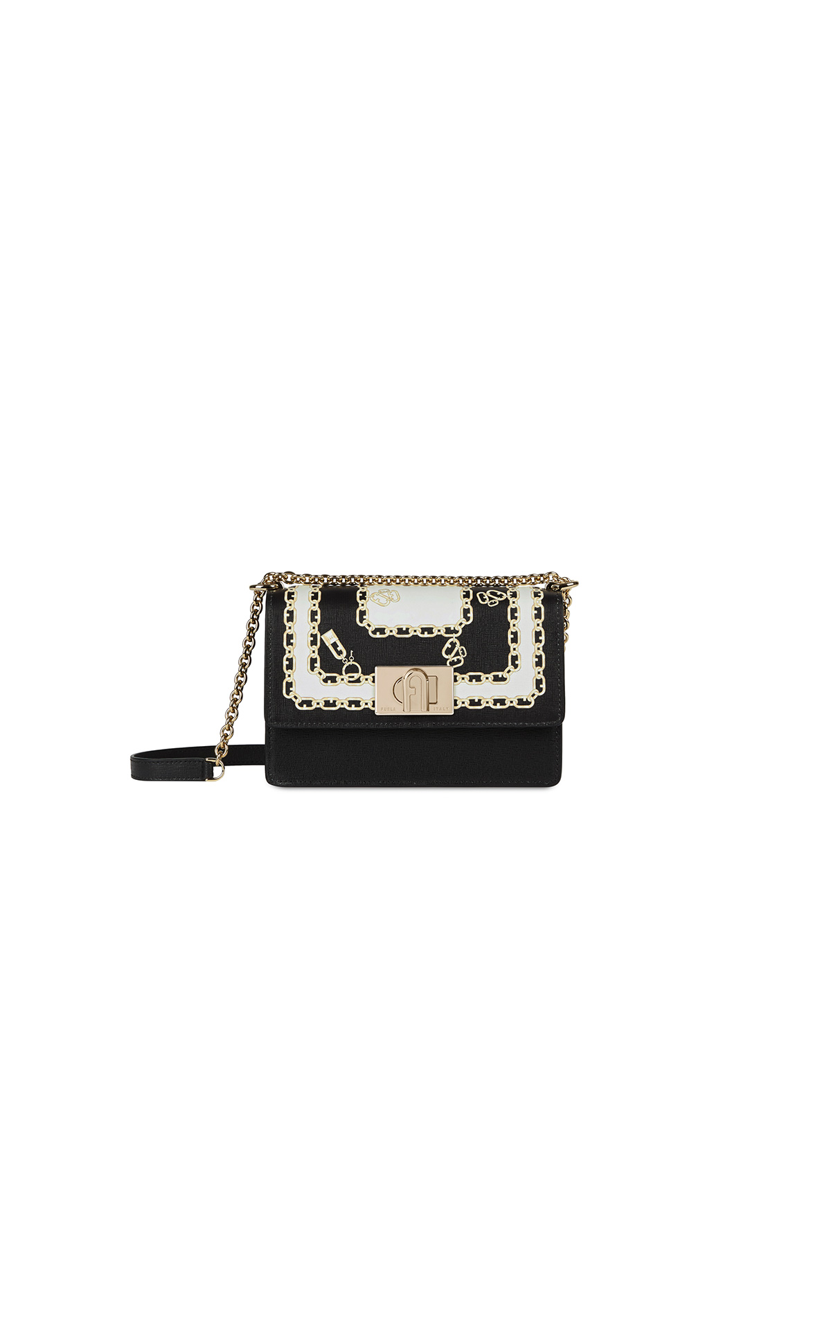 Furla 1927 Crossbody 20 Nero & Talco at The Bicester Village Shopping Collection