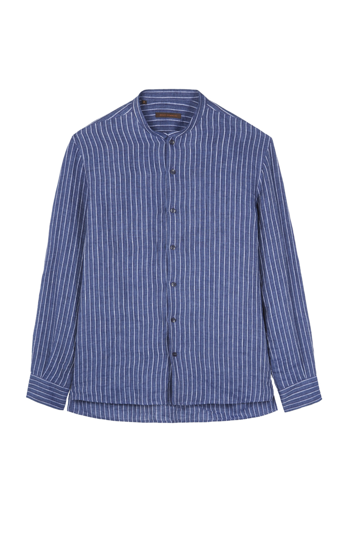 Blue linen striped shirt Adolfo Dominguez