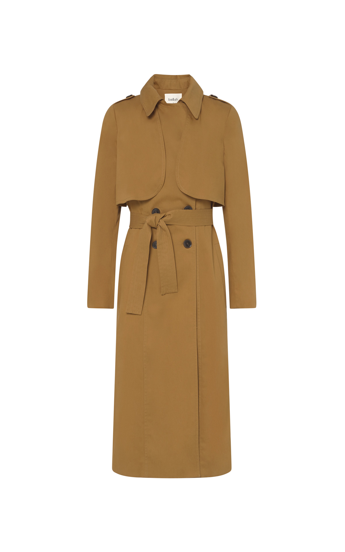 Camel trench coat for women from ba&sh