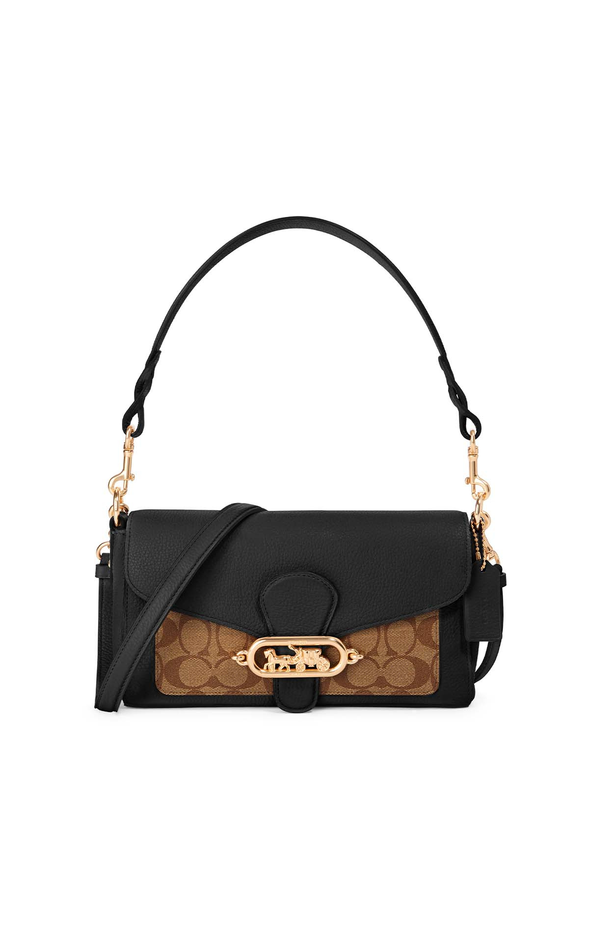 Coach Signature Jade Shoulder Bag in brown/black at The Bicester Village Shopping Collection