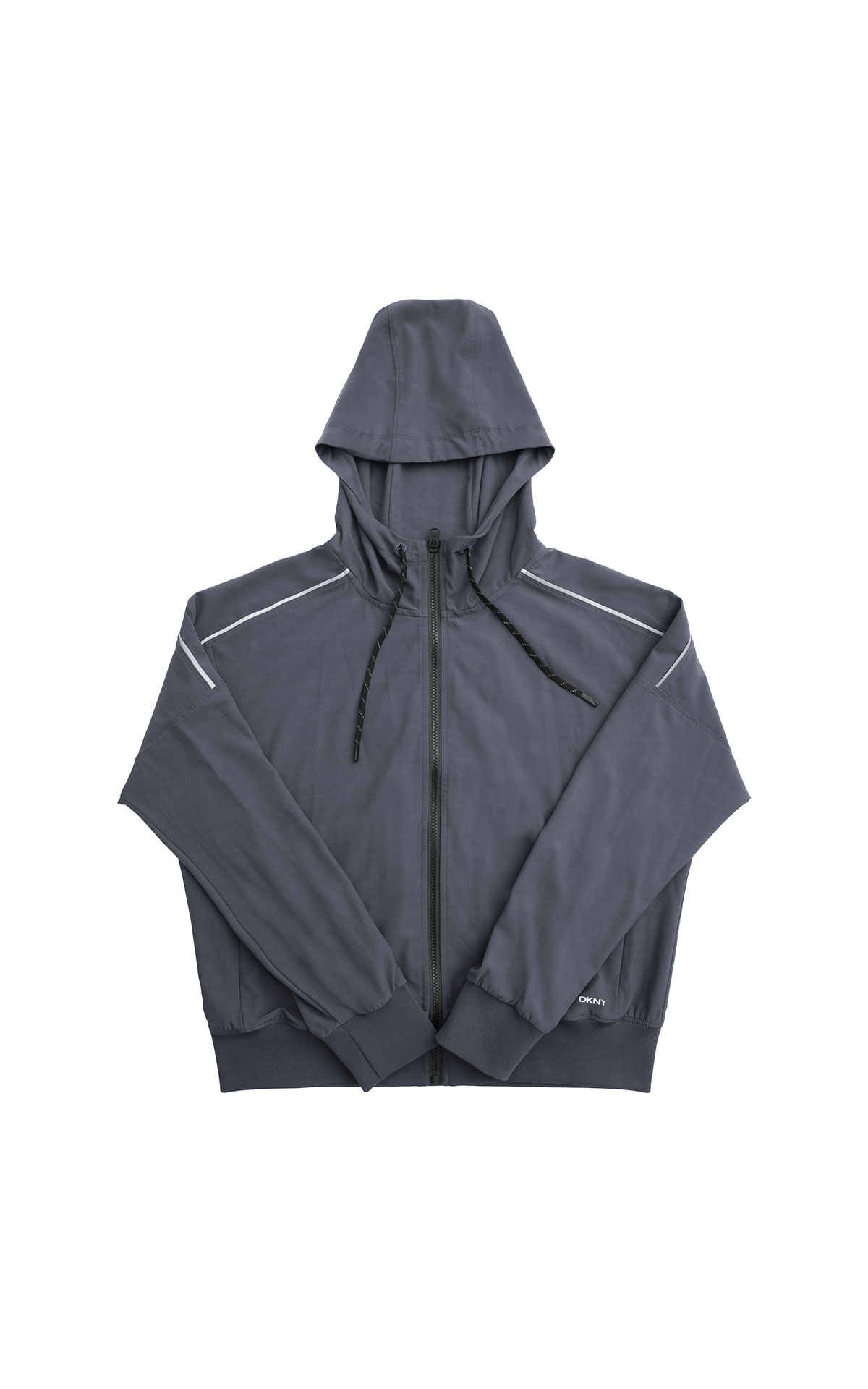DKNY Hooded Zip jacket with Reflective Piping from Bicester Village