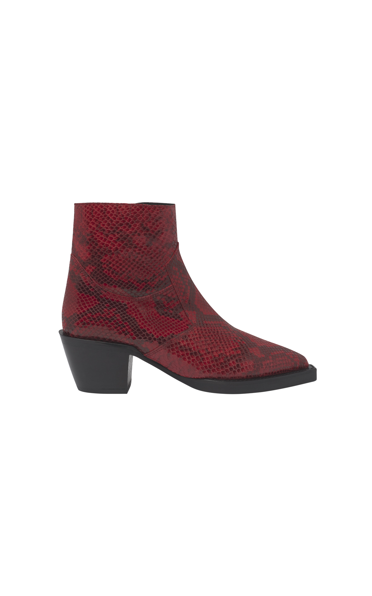 Red cowboy ankle boots The Kooples