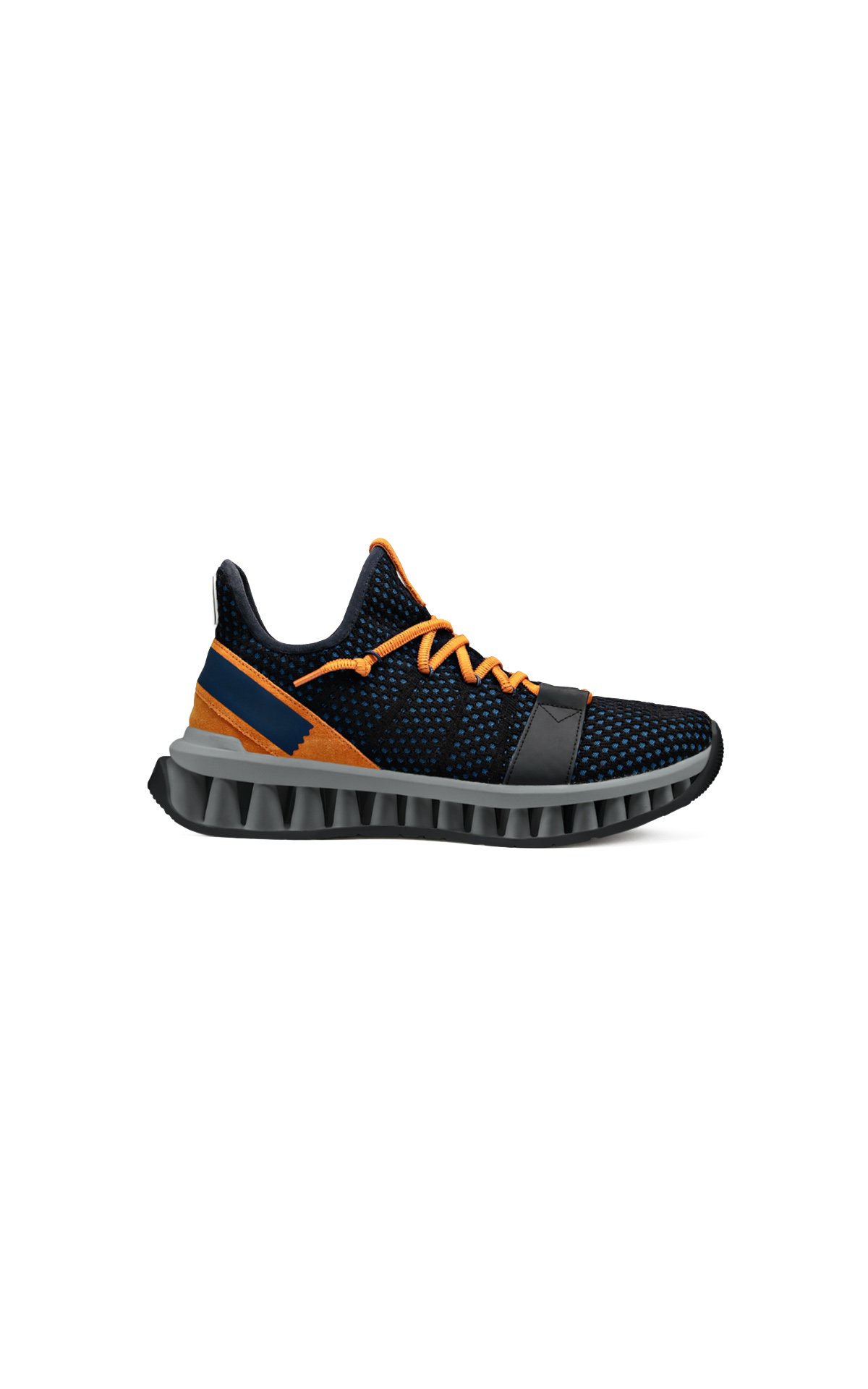 Black and orange sneaker Ermenegildo Zegna