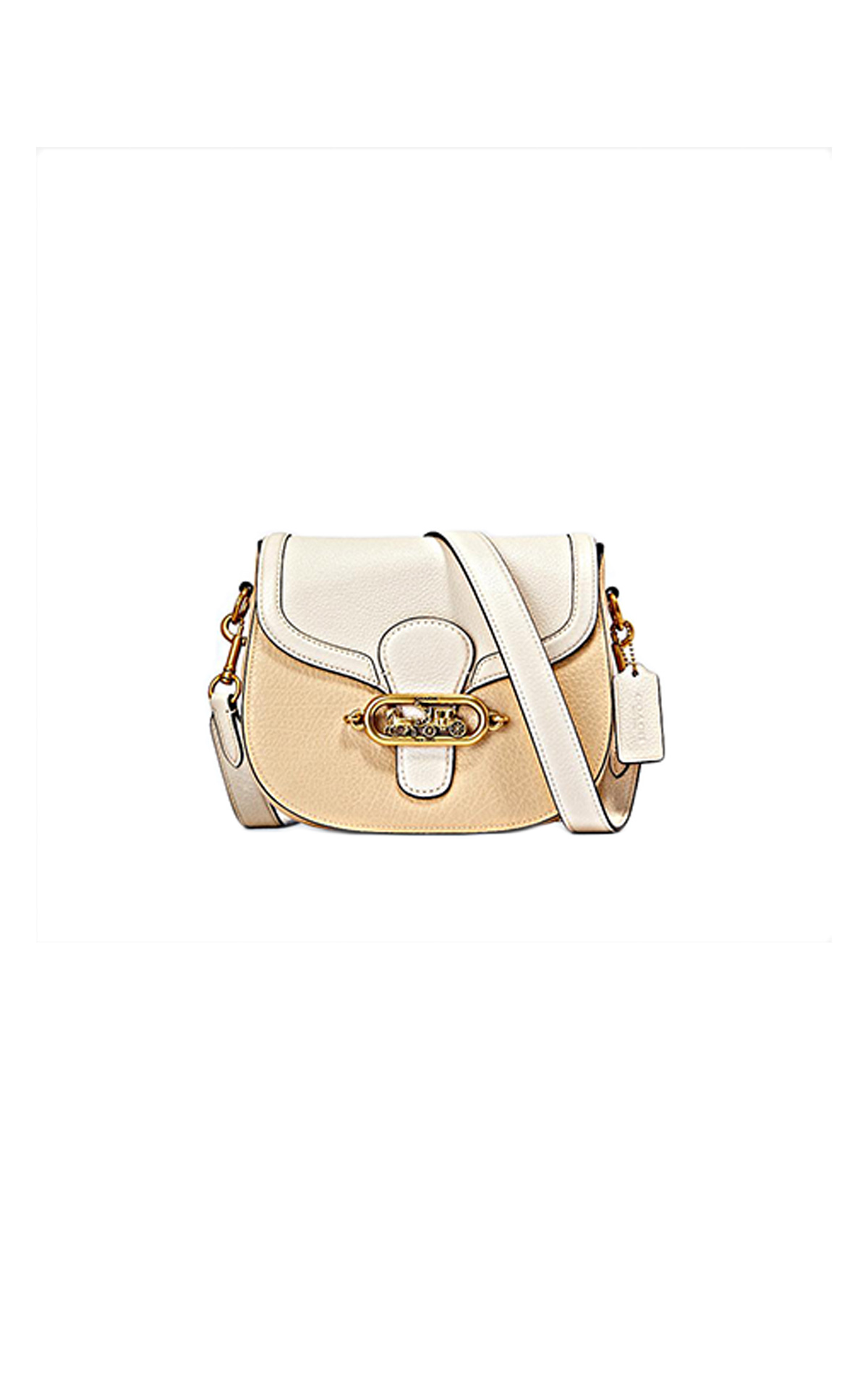 Black and beige Jade saddle bag Jennifer Lopez Coach