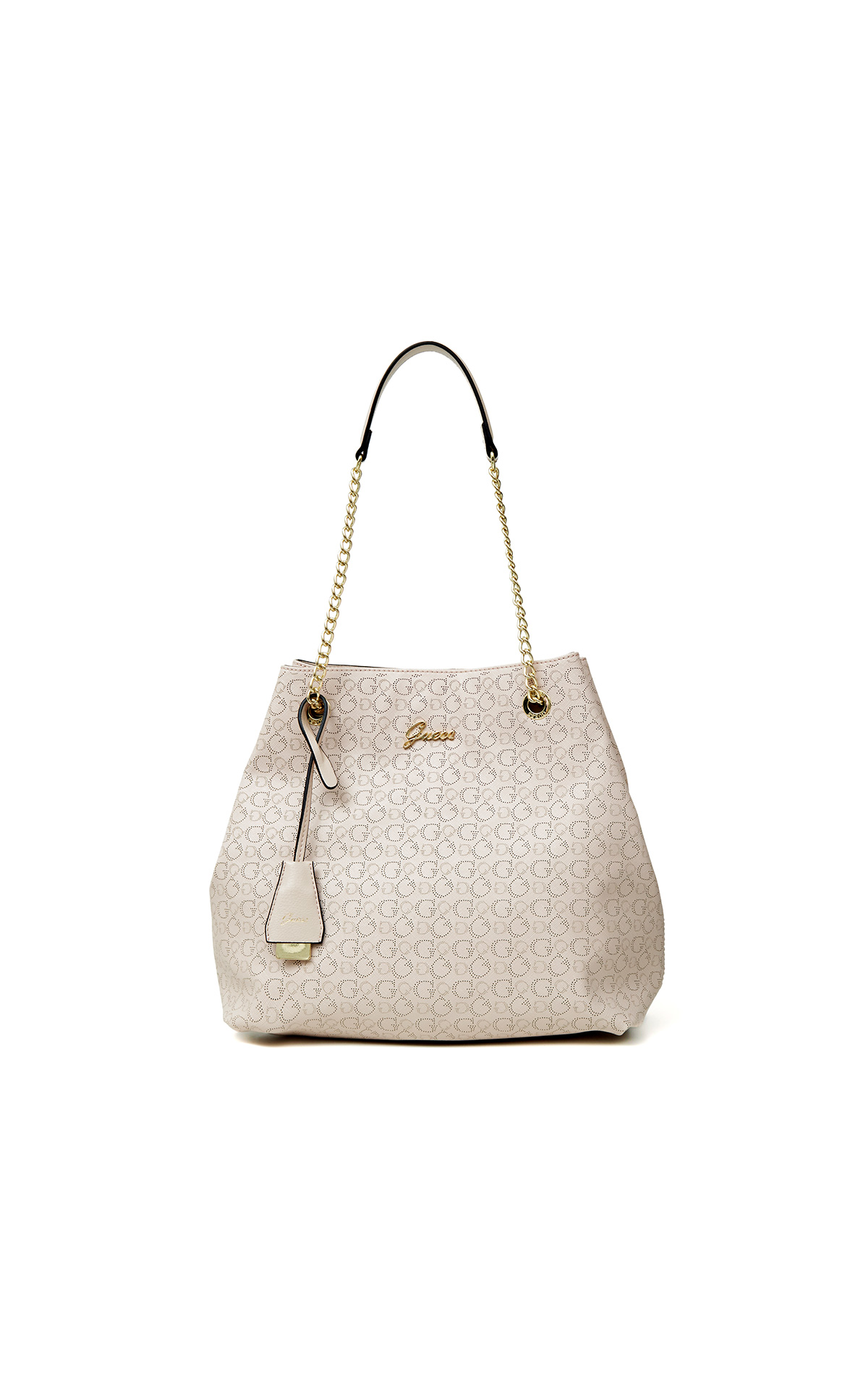 Emily beige shoulder bag for woman Guess