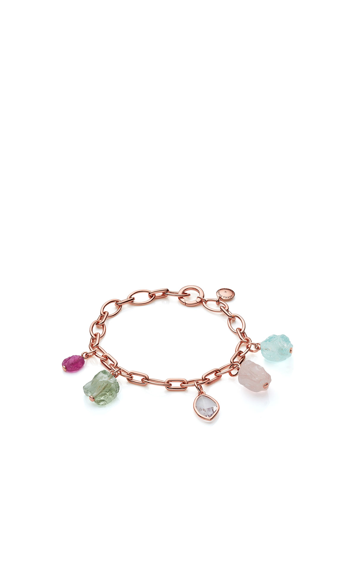 Monica Vinader Rose gold vermeil gemstone bracelet - mix from Bicester Village