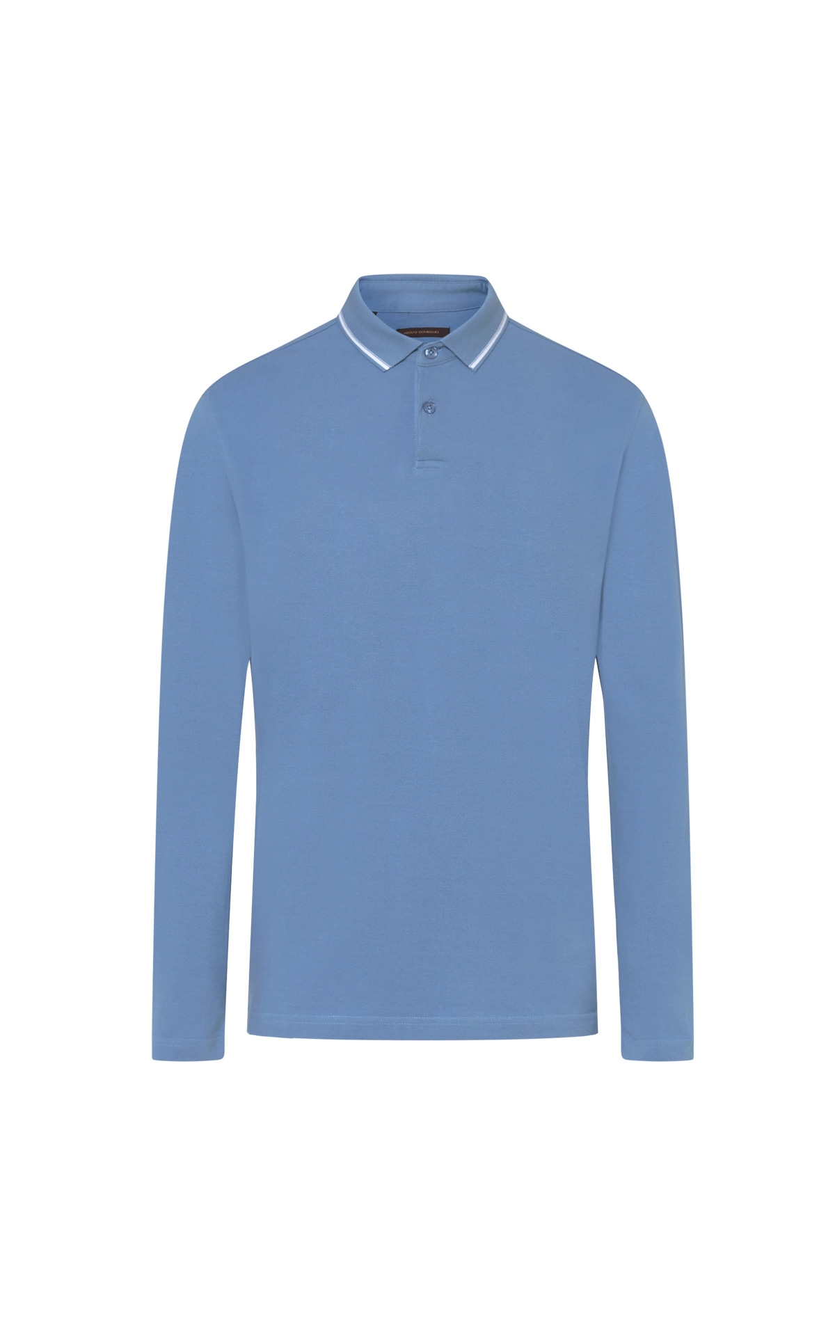 Long sleeve blue polo shirt from Adolfo Dominguez