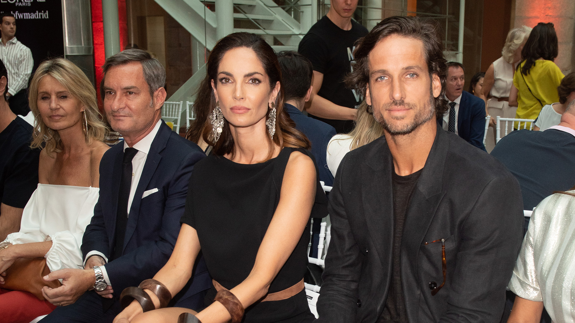 Eugenia Silva and Feliciano López attend Pedro del Hierro fashion show during the Mercedes Benz Fashion Week Spring/Summer 2020, 9 July 2019 in Madrid, Spain