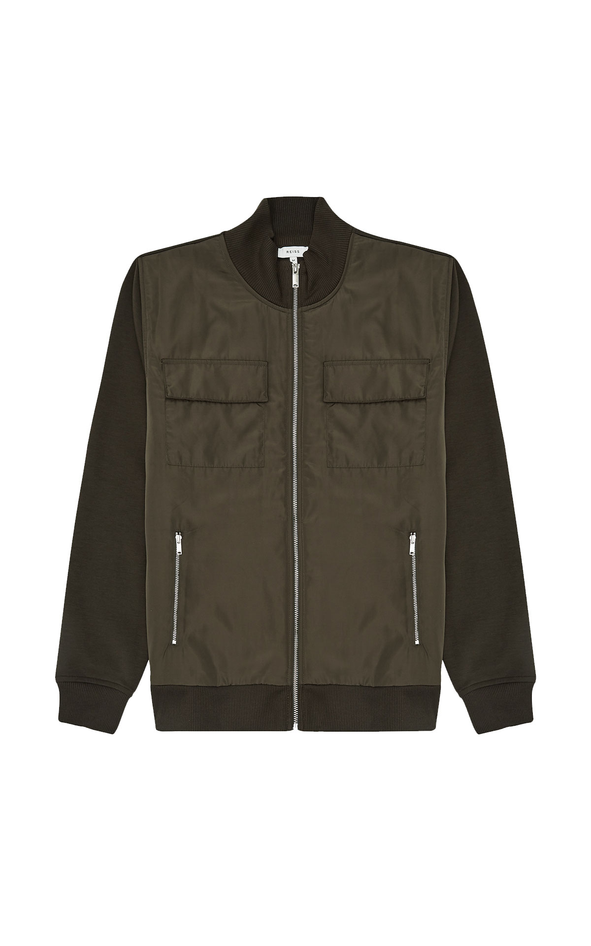 Reiss Shelby dark green bomber from Bicester Village