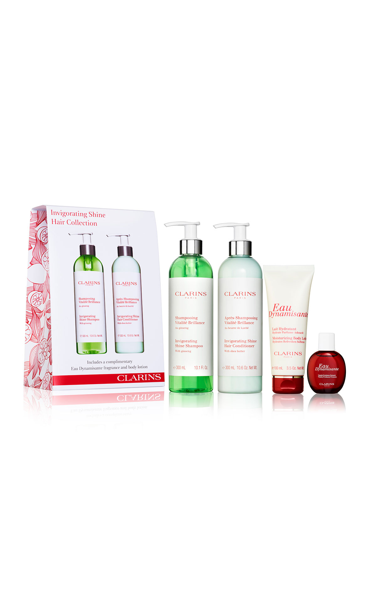 Clarins Invigorating shine hair collection from Bicester Village