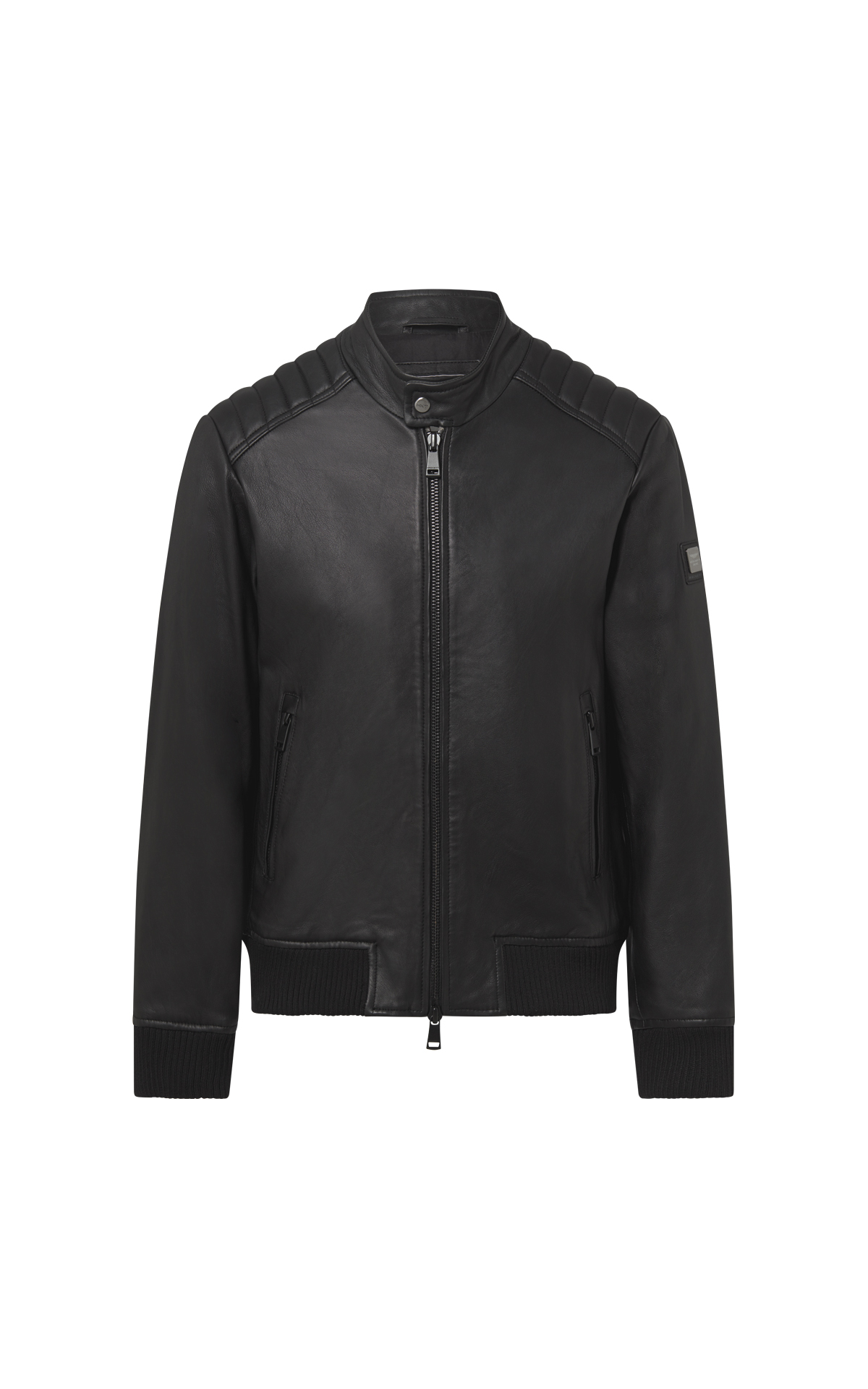 Black leather jacket Hackett