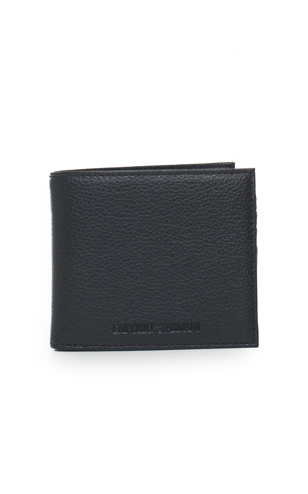 Black billfold for man Armani