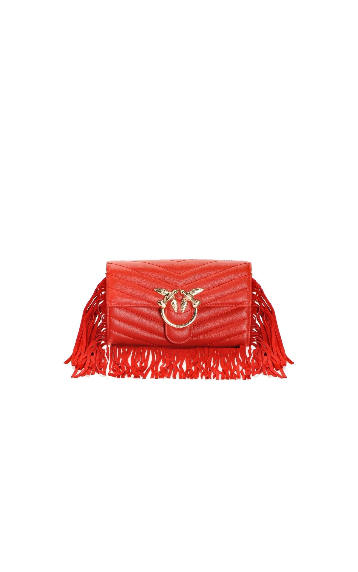 Red bag with fringes Pinko
