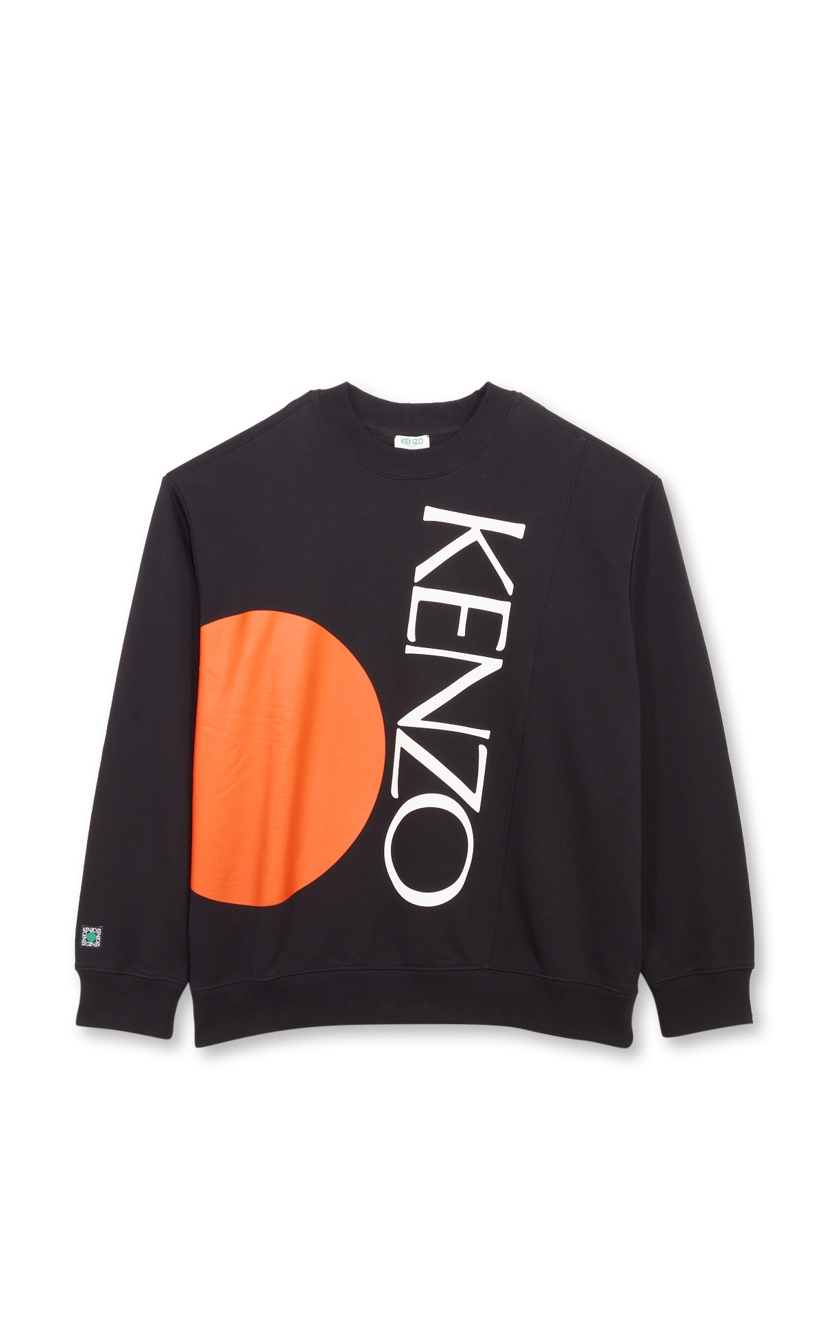Kenzo Black and orange logo sweatshirt
