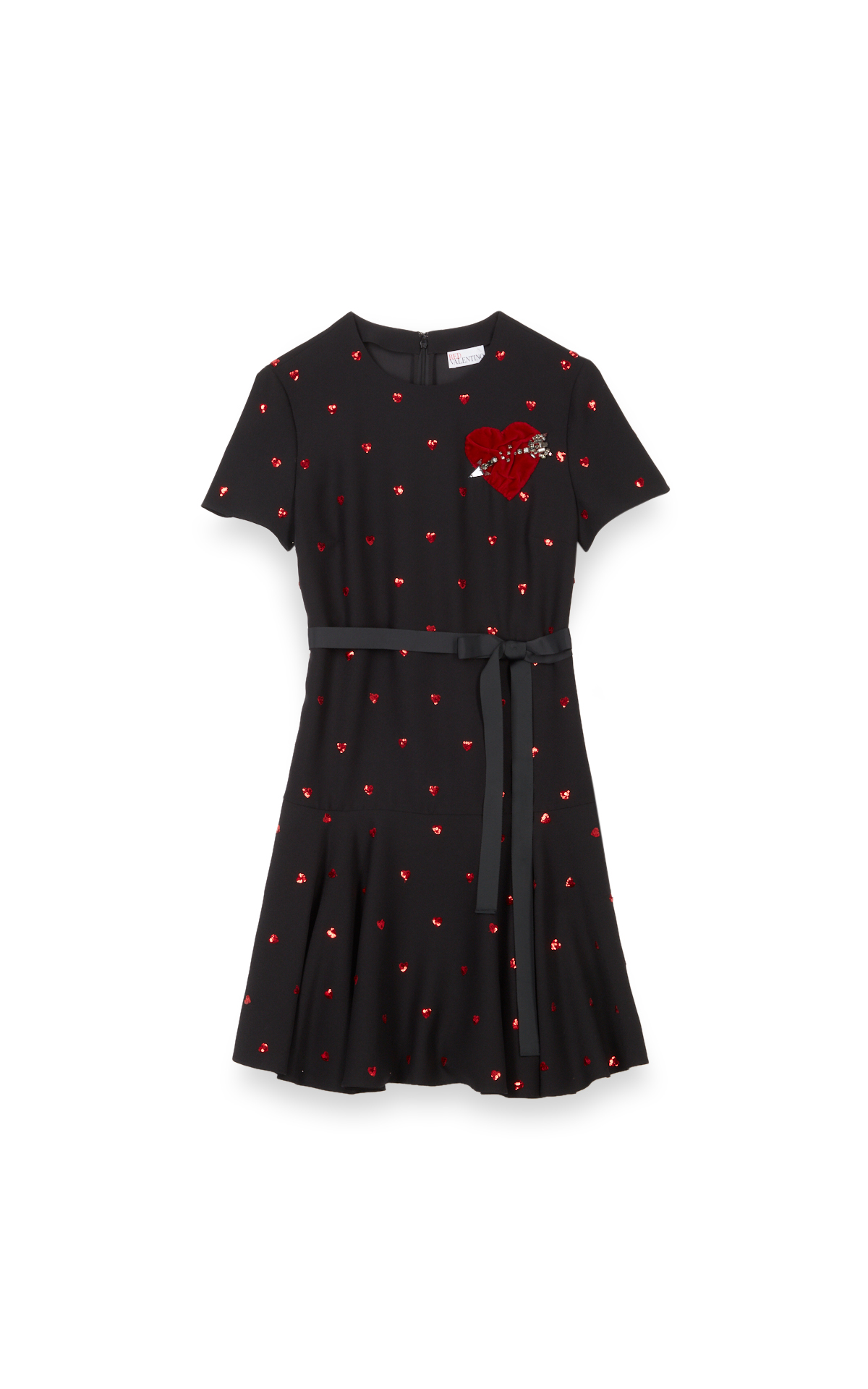 la vallée village RedValentino Short red and black dress