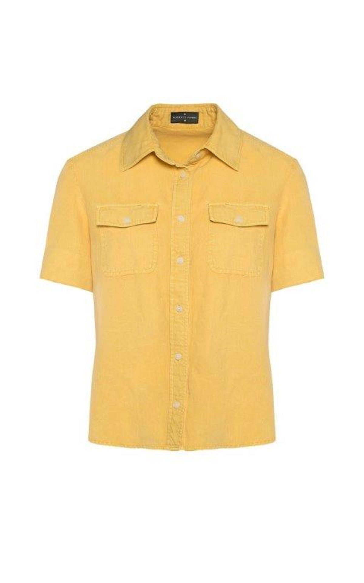Yellow linen shirt Roberto Verino