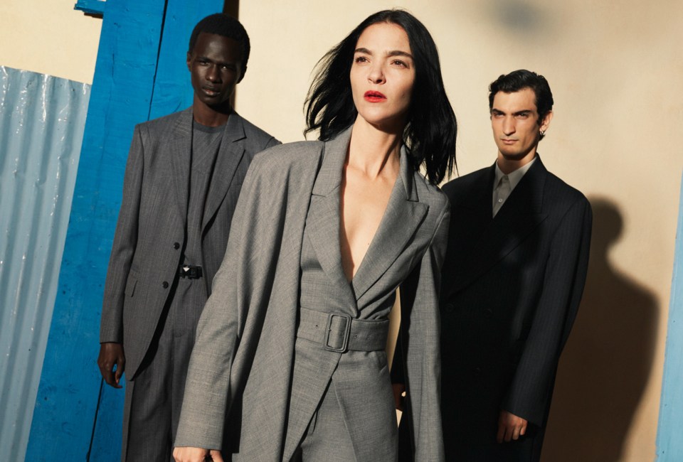 Group wearing Salvatore Ferragamo tops and dresses